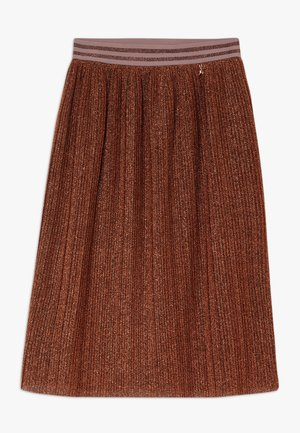 GONNA PLISSET - Áčková sukně - brunito