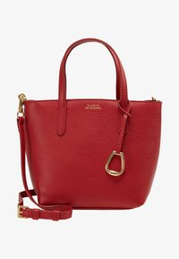 Lauren Ralph Lauren - MINI TOTE CROSSBODY MEDIUM - Kabelka - red/navy - 5
