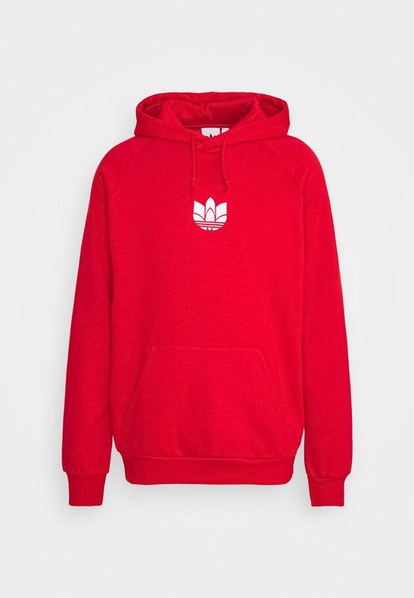 adidas Originals TREFOIL HOOD UNISEX - Bluza - scarlet/czerwony Odzież Męska VFOW