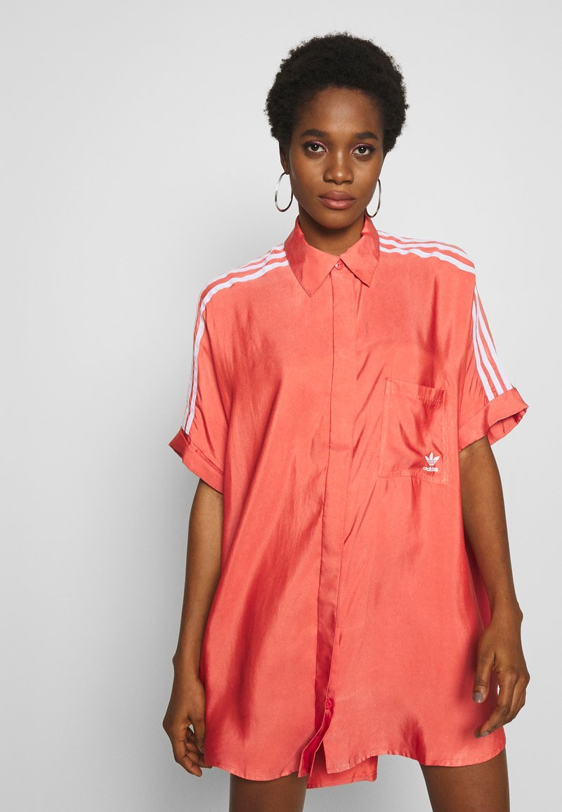 adidas Originals - DRESS - Shirt dress - trace scarlet