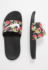 Nike Performance - KAWA SLIDE SE PICNIC  - Pool slides - black/white/track red/pear - 0