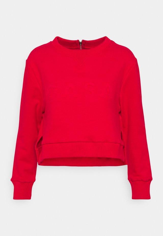 CROP - Sweatshirt - chilli