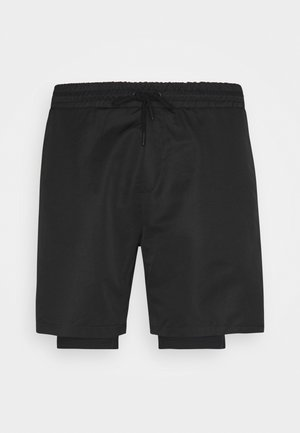 LAYERED - Pantaloncini sportivi - black
