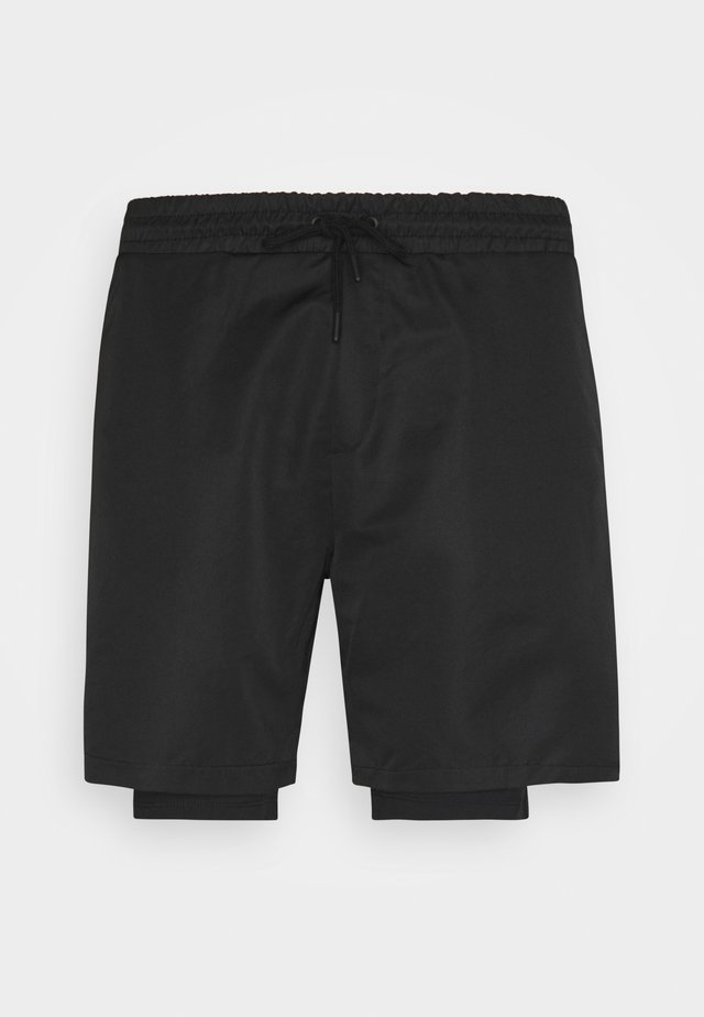 LAYERED - Short de sport - black