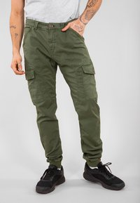 Alpha Industries - ALPHA INDUSTRIES SPARK - Cargo trousers - dark olive - 0