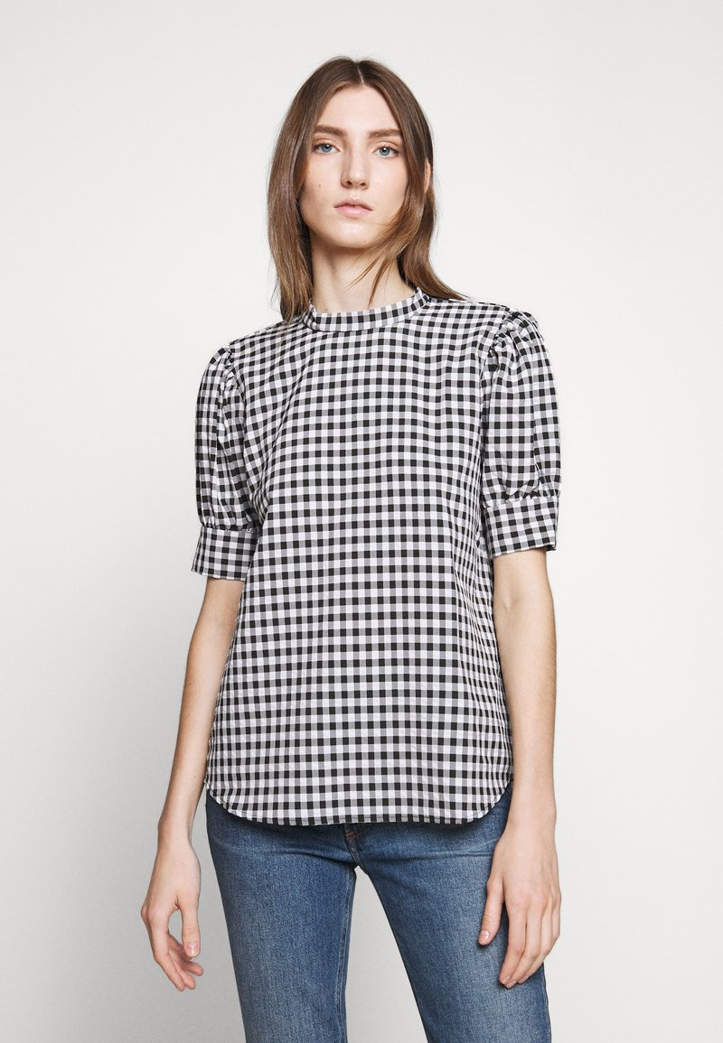 Bruuns Bazaar - SEER ADELAIA BLOUSE - Blouse - black/white