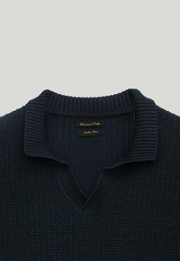 Massimo Dutti - Strickpullover - blue-black denim - 2