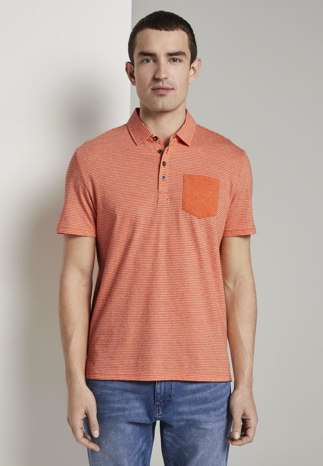 Polo - orange mocktwist stripe