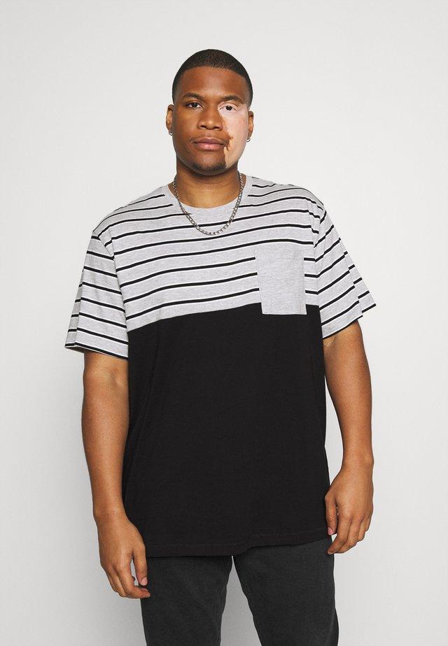 ONSMET LIFE BLOCK TEE  - Print T-shirt - black