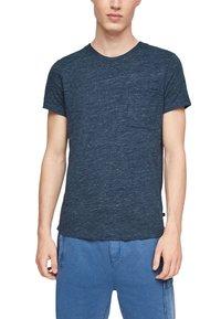 QS by s.Oliver - Basic T-shirt - blue melange - 5