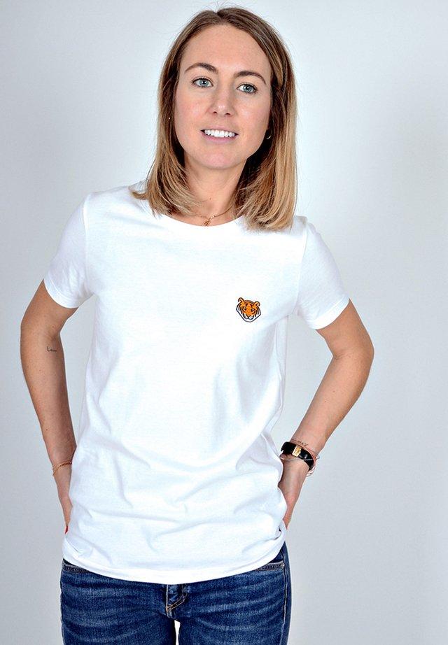 TIGER  - T-shirt print - weiß