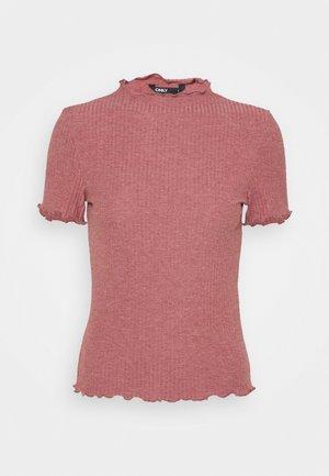 ONLEMMA HIGHNECK - Basic T-shirt - apple butter melange