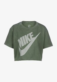 Nike Sportswear - FUTURA CROP - Print T-shirt - twilight marsh/white - 0