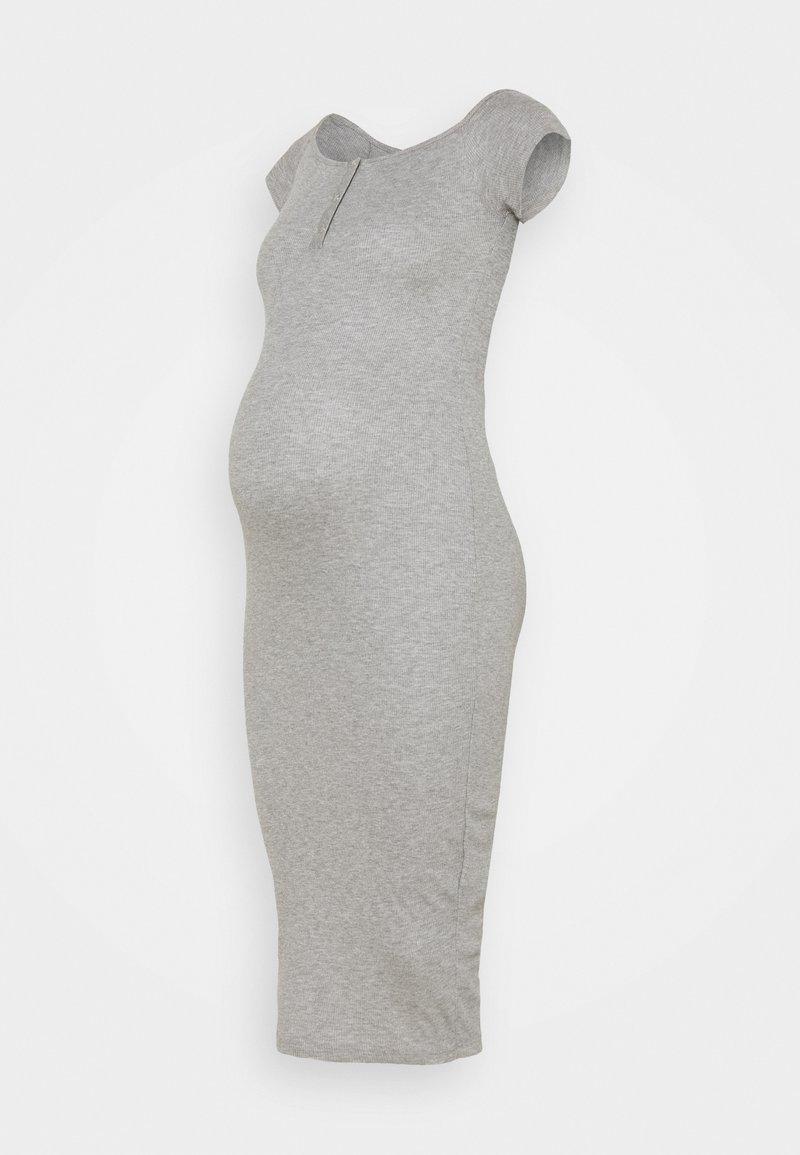 Missguided Maternity - BARDOT POPPE - Maxi šaty - grey marl