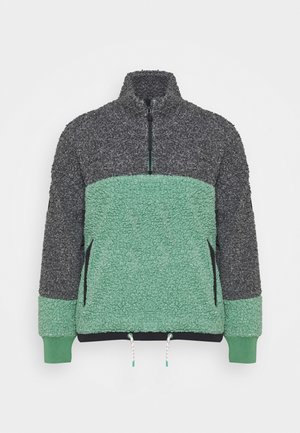LAROSA  ZIP - Fleece jumper - trublack/spruce