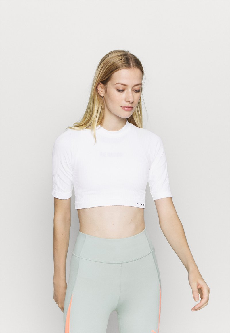 NU-IN - CROPPED  - Basic T-shirt - white