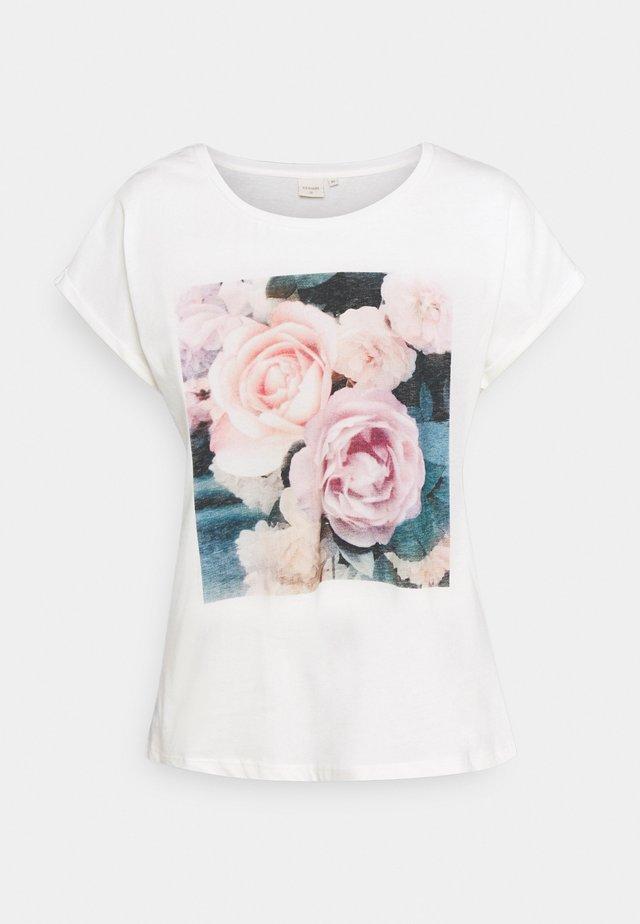 BETA - T-shirt med print - snow white