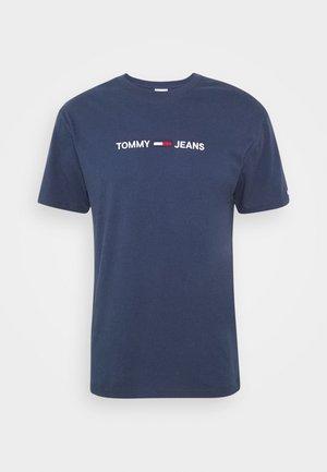 STRAIGHT LOGO TEE - Print T-shirt - twilight navy
