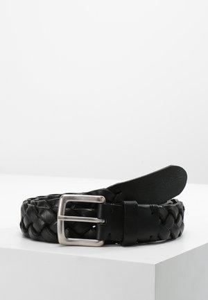 BELT GENTS - Braided belt - black