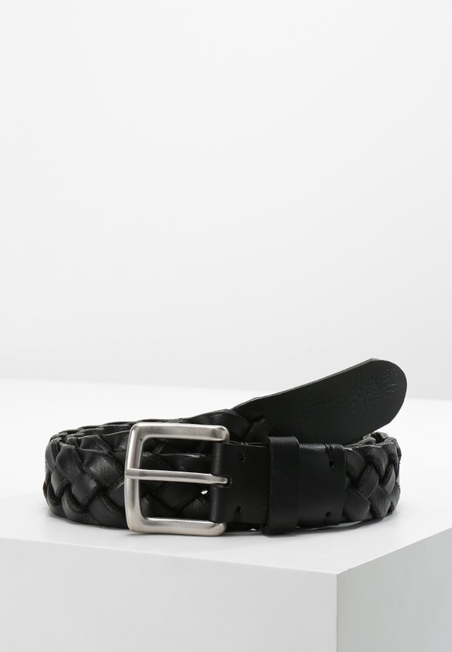 BELT GENTS - Braided belt - black