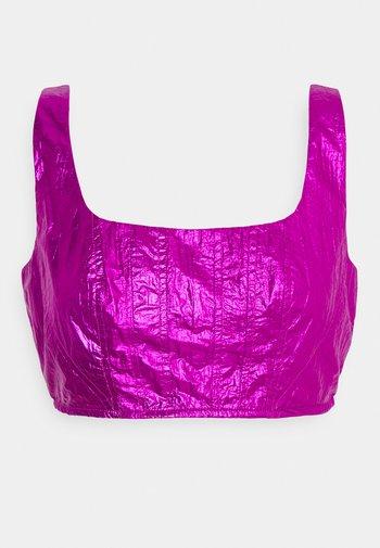 SQUARE NECK CORSET  - Top - purple