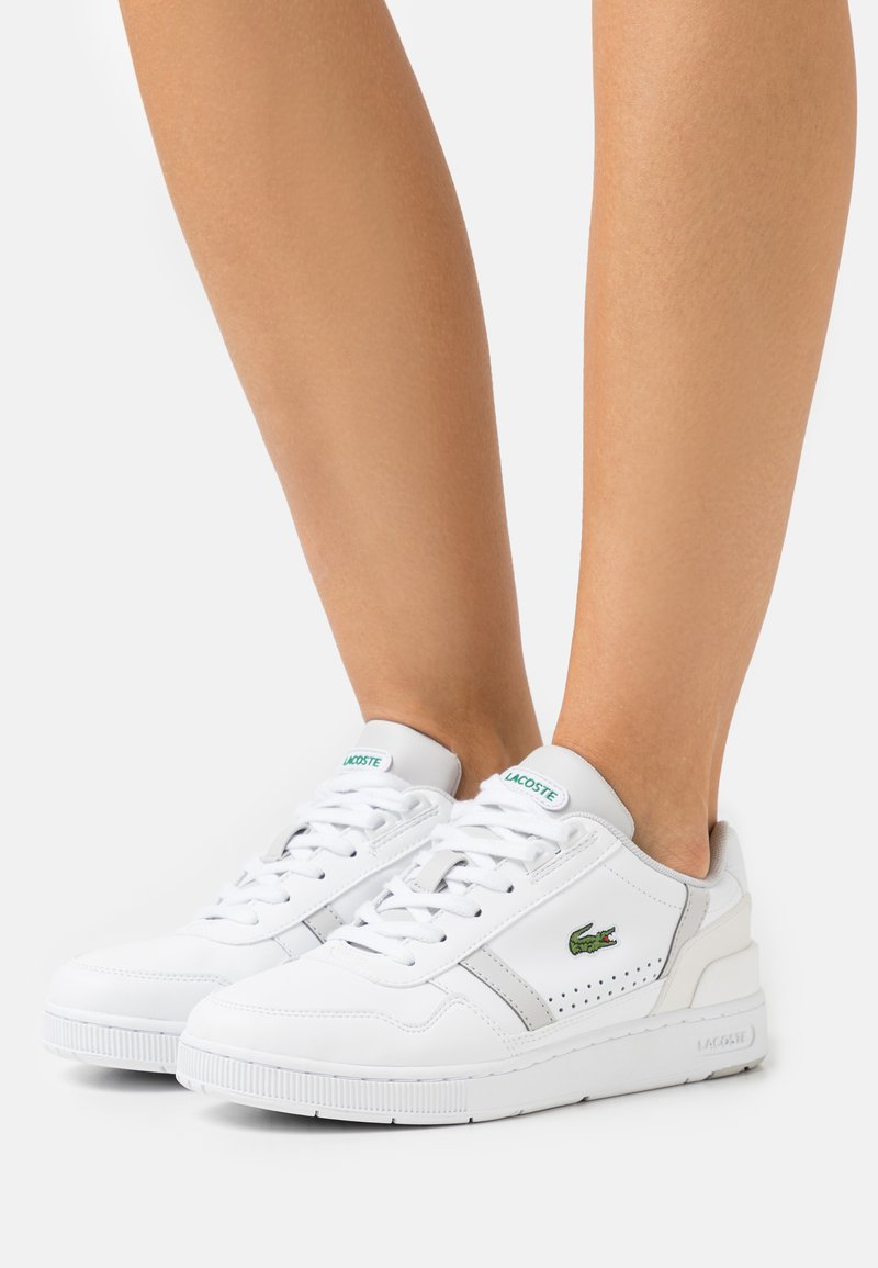 Lacoste - T-CLIP - Baskets basses - white/light grey