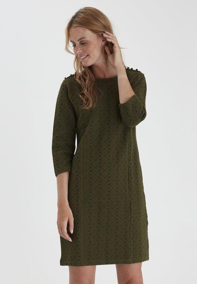 FRMEVAR 1 - Jersey dress - dark olive mix