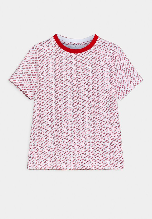 T-Shirt print - white/red