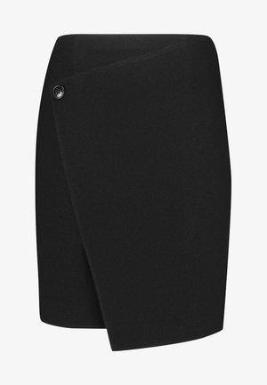 MIT ÜBERWURFEFFEKT - Wrap skirt - black
