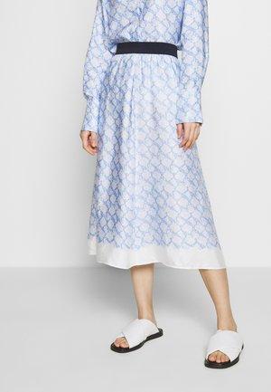 BIELLA - Áčková sukně - pacific blue