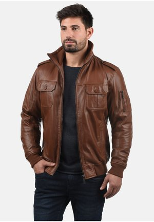 FAMASH - Leather jacket - golden bro