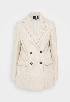 DOUBLE BREASTED COAT - Short coat - oatmeal