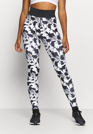 SCRIBBLE - Leggings - black/white