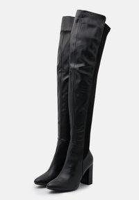 RAID - COURAGE - Kozačky na vysokém podpatku - black - 2