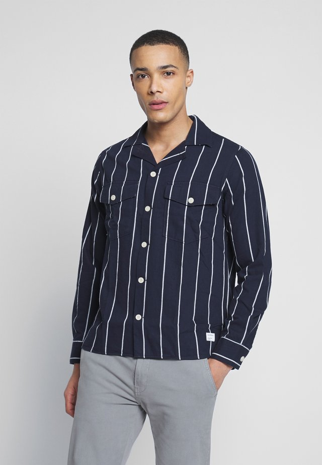 CLIPPER BIG SHIRT - Shirt - navy stripe