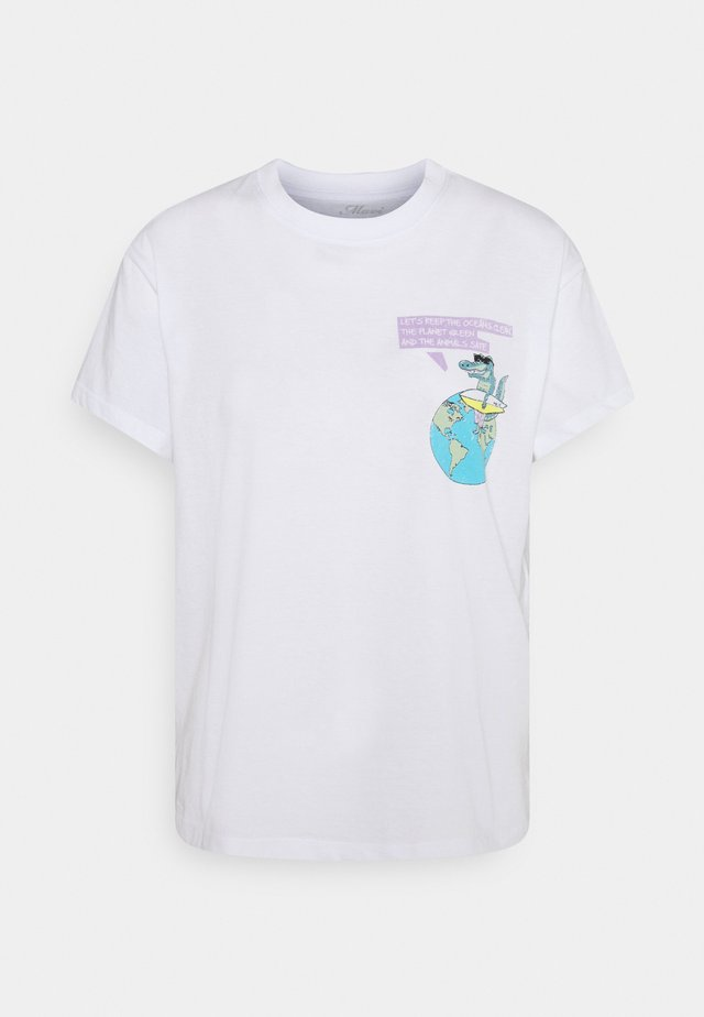 NATURE TEE - T-shirt print - white
