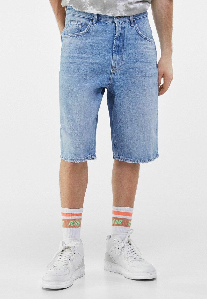 Bershka - Short en jean - blue denim