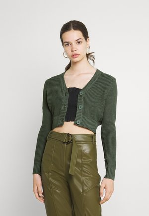CROPPED CARDIGAN - Gilet - green