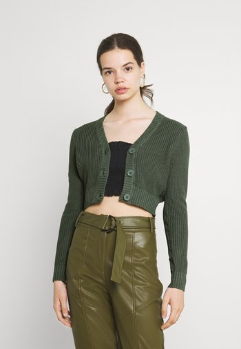 CROPPED CARDIGAN - Cardigan - green