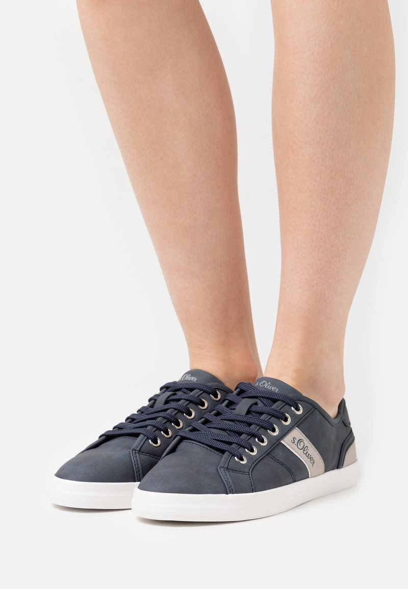 s.Oliver - Sneakers laag - navy/grey