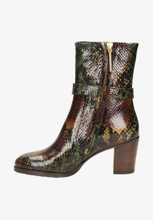 Cowboy/biker ankle boot - bruin