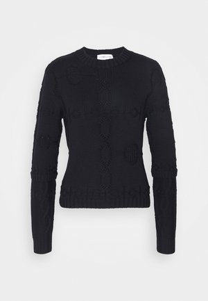 CROPPED CREW NECK - Jumper - navy