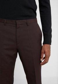 HUGO - HESTEN - Suit trousers - dark red - 3