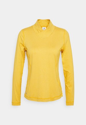 AGNES MOCK NECK - Long sleeved top - amber