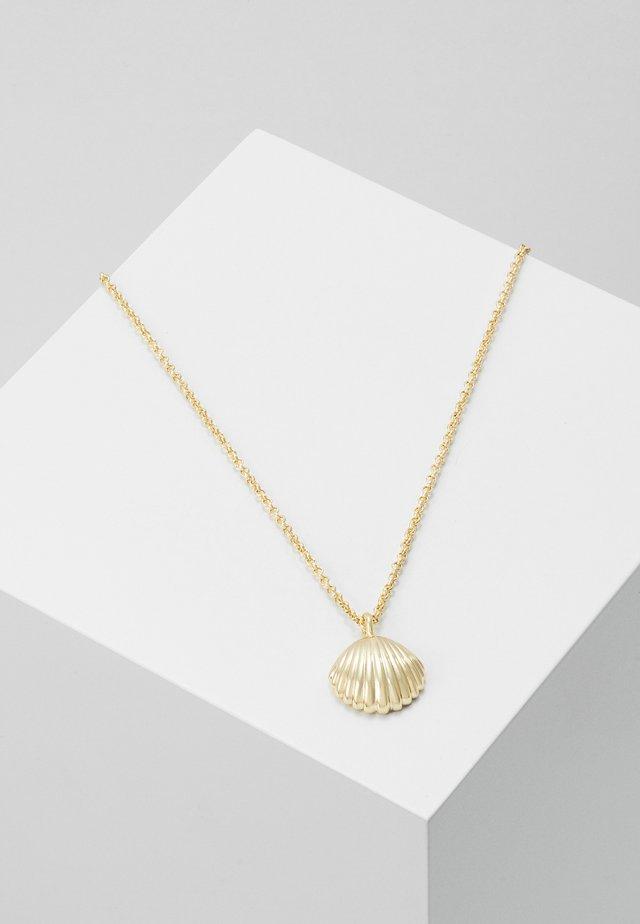MINNA PENDANT NECK SHELL - Ketting - gold-coloured