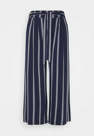 CULOTTE STRIPE - Trousers - navy/weiß