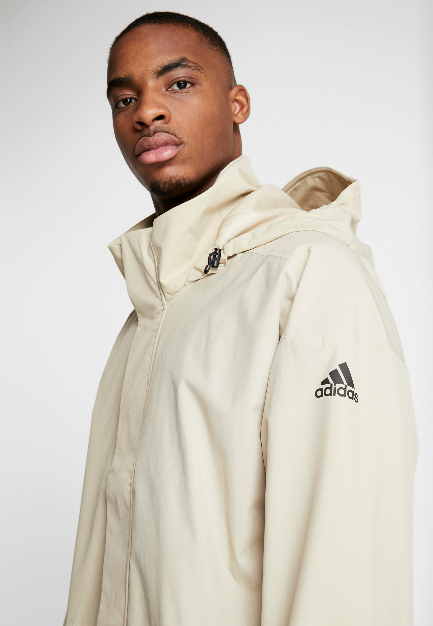 Popular Wholesale adidas Performance URBAN RAIN.RDY  - Waterproof jacket - sand | men's clothing 2020 qZw5K