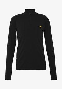 Lyle & Scott - PERFORMANCE SEAMLESS MIDLAYER - Sports shirt - true black marl - 4