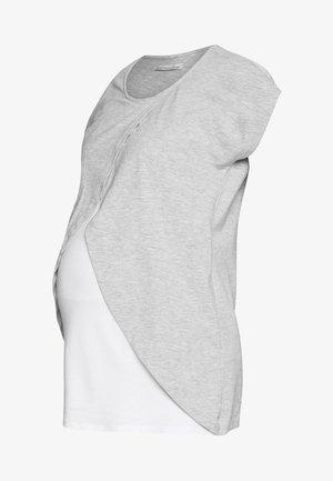 NURSING - Print T-shirt - white/grey