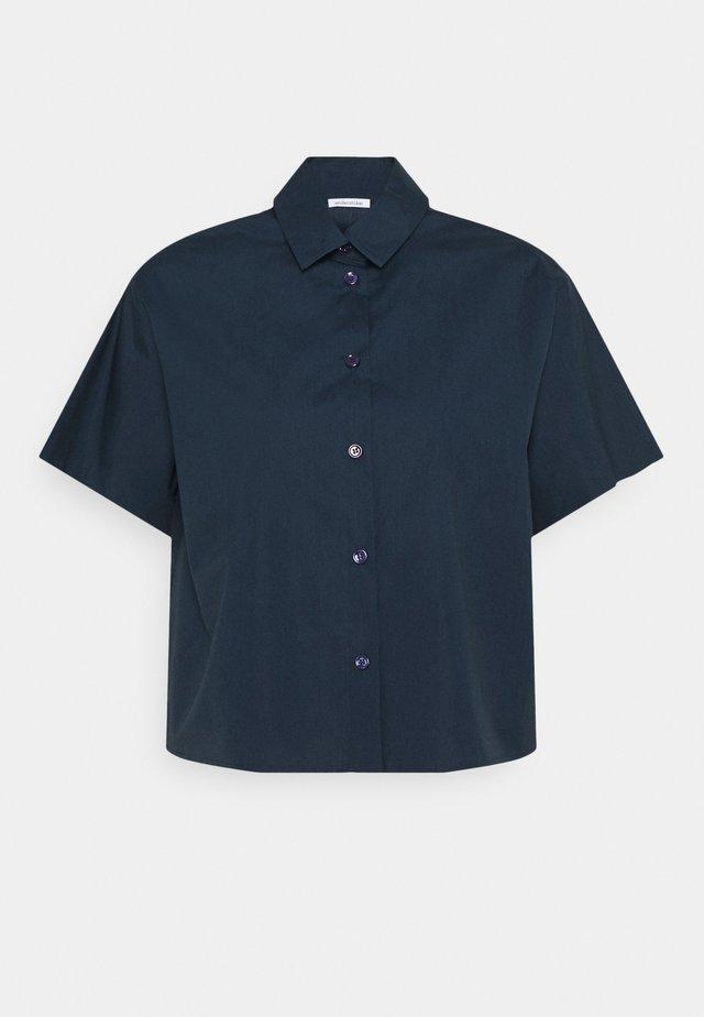 KURZARM - Button-down blouse - navy